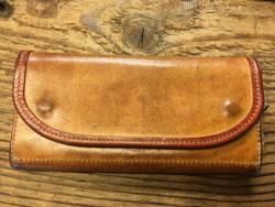3年使用後のブッテーロレザーの財布