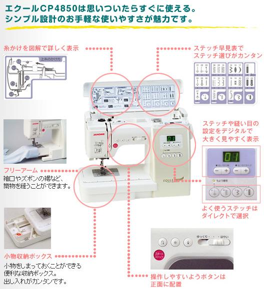 エクールCP4850は思いついたらすぐ使える。シンプル設計のお手軽な使いやすさが魅力です。