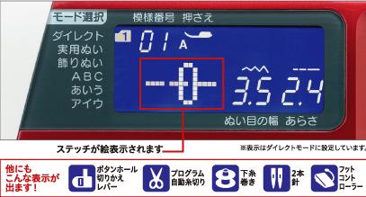 バックライト付LCDスクリーン