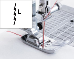 左基線伸縮縫い