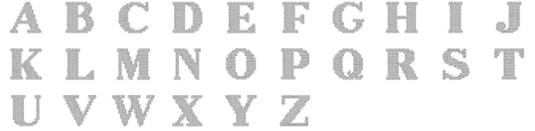 クロスステッチ文字