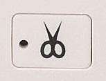 自動糸切りボタン