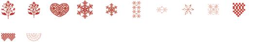 ミシン内蔵刺しゅうデザイン USBメモリ 刺しゅう模様 インテリア ©Y.GANAHA COLLECTIONS