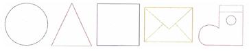 ミシン内蔵刺しゅうデザイン USBメモリ 刺しゅう模様 Outline